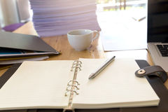 Image of business documents on workplace, office Royalty Free Stock Photography