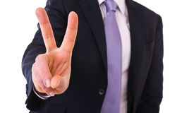 Business man showing ok sign. Stock Photos