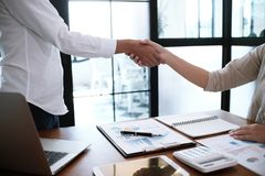 Image business mans handshake. Business partnership meeting conc Stock Images