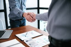 Image business mans handshake. Business partnership meeting conc Stock Photography