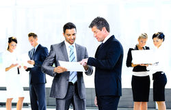 Image of business partners discussing Royalty Free Stock Image