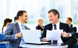 Image of business partners discussing Royalty Free Stock Images
