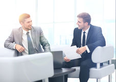 Image of business partners discussing documents Royalty Free Stock Photography