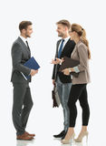 Image of business partners discussing ideas at meeting Stock Image