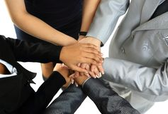 Image of business partners hands Stock Photography