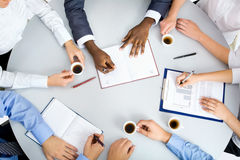 Image of business people hands Royalty Free Stock Photo