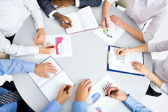 Image of business people hands Royalty Free Stock Photos