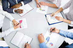 Image of business people hands Stock Photos
