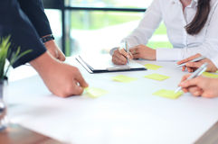 Image of business people hands Royalty Free Stock Photography