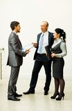 Image of a business team discussing Stock Images