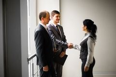 Image of a business team discussing Stock Image