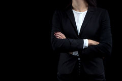 Image of business woman with arms crossed Stock Photos