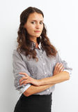 Image of business woman with crossed arms Stock Photo