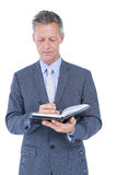 image of businessman with diary Stock Image