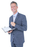 image of businessman with diary Stock Photography