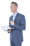 image of businessman with diary Stock Images