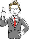 A Businessman gives a thumbs up vector illustration