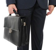 Image of a businessman holding a briefcase Stock Photography
