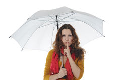 Image of a businessman with umbrella Royalty Free Stock Photos