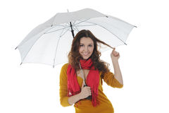 Image of a businessman with umbrella Stock Photography