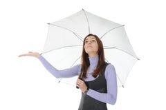 Image of a businessman with umbrella Stock Photos