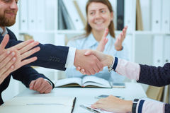 Image businessmans handshake. royalty free stock photos