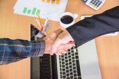 Image of businessmen Hand shaking. Royalty Free Stock Images