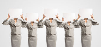 Image of a businesswomen standing in a row Royalty Free Stock Image