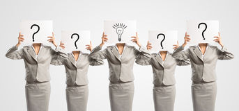 Image of a businesswomen standing in a row Royalty Free Stock Photography