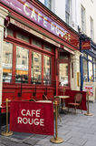 Cafe Rouge. An image of a Cafe Rouge restaurant in Park Street, Bristol, England. Café Rouge is a French-styled restaurant chain, with over 120 sites across royalty free stock photography