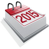 Image of a calendar card 2015 on white background Stock Images