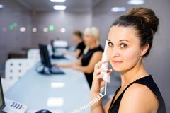Image of a call center Stock Images