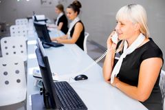 Image of a call center Stock Photos