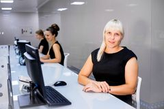Image of a call center Royalty Free Stock Photos