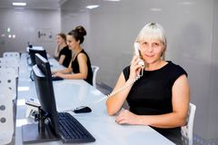 Image of a call center Stock Photo