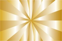 Abstract sunburst pattern, metallic gold ray colors. Vector illustration, EPS10. Geometric pattern. The image can be used as background, backdrop, image montage royalty free illustration