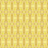Seamless geometric pattern of gradient yellow gold stars and polygon shapes with white lines. Vector illustration, EPS10. The image can be used as background vector illustration