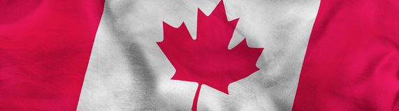 image of canada  flag close up Royalty Free Stock Photography