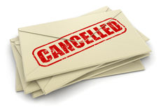 Image of Cancelled letters Royalty Free Stock Images