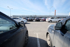 The image of a car parking in Moscow, Russia Stock Photo