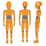 Image of car test dummy Royalty Free Stock Photography