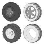 Image of car tires Stock Photography