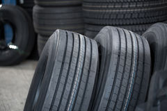 The image of car wheels. At the warehouse Stock Images