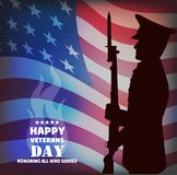 The image a card by Veterans Day. Stock Photography