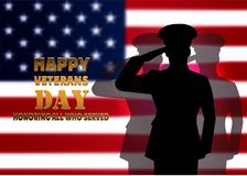 The image a card by Veterans Day. Royalty Free Stock Images