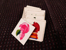 Cards with images Stock Photo