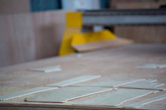 Image of carpenters work table Royalty Free Stock Photography