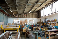 Image of carpenters workshop Stock Photos