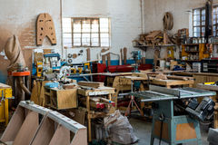Image of carpenters workshop Stock Photo