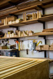 Image of the carpenters workshop Royalty Free Stock Image